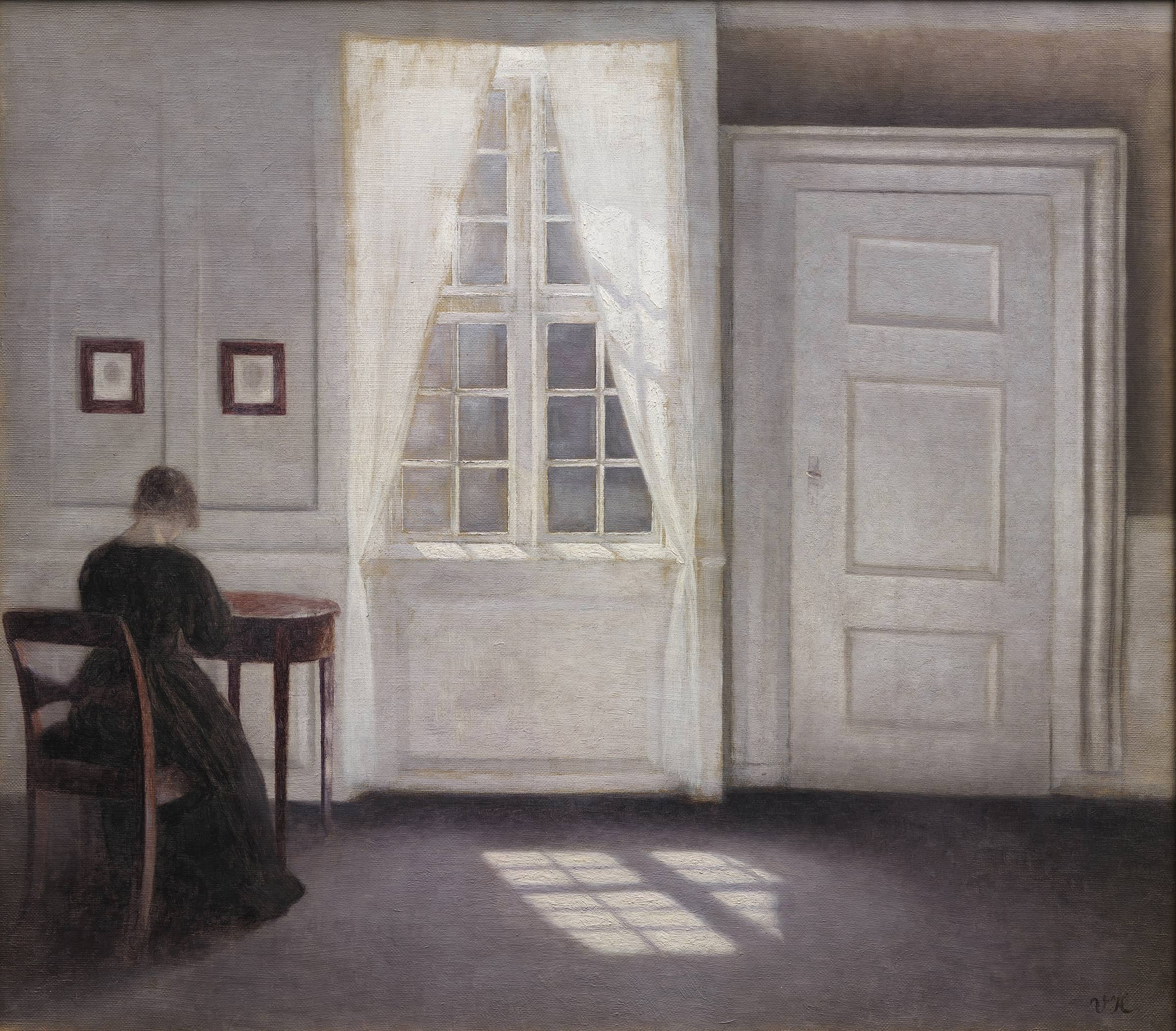 Interior in Strandgade, Sunlight on the Floor, Vilhelm Hammershoi, 1901