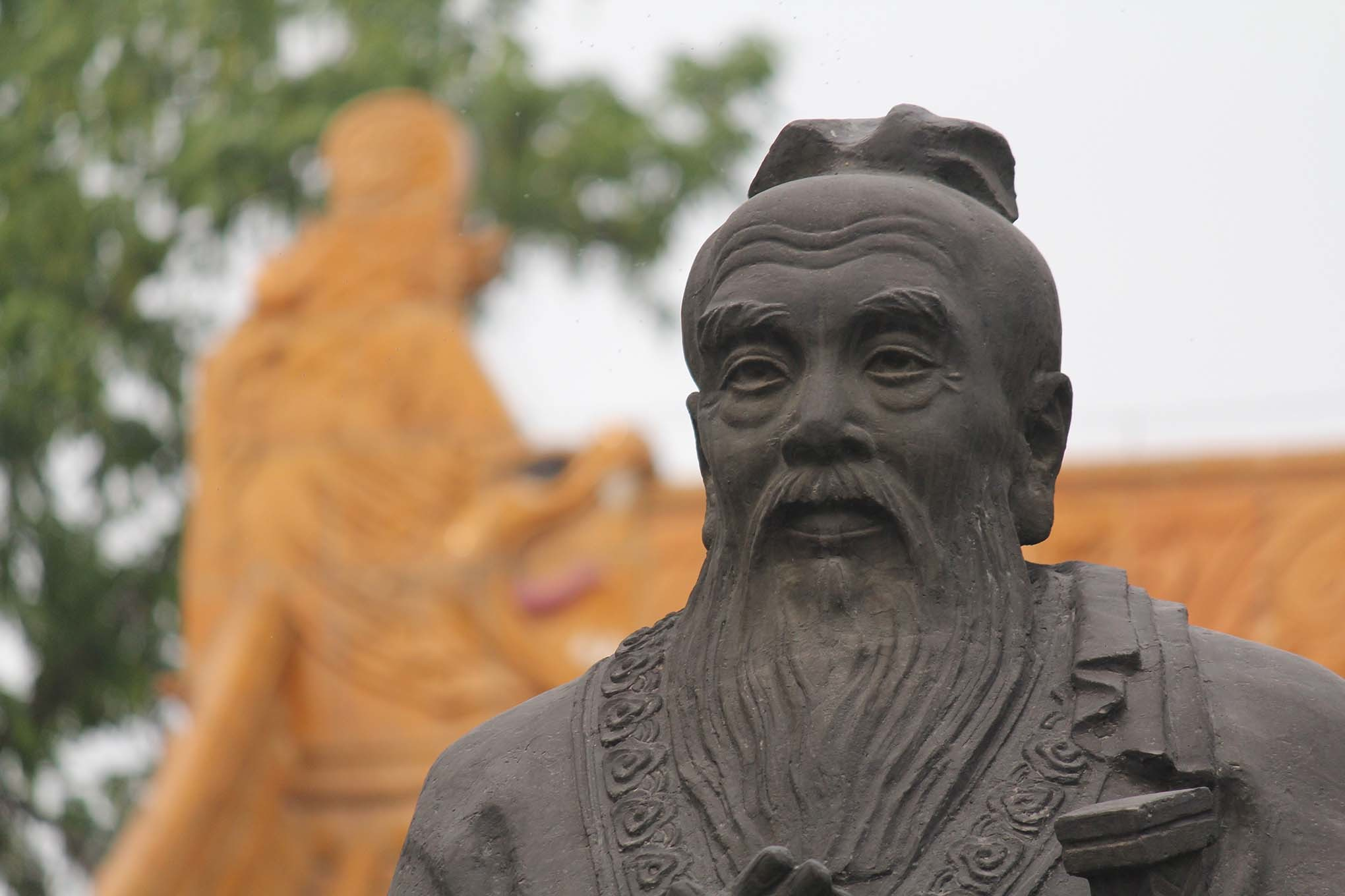 Sculpture of Confucius in Nanjing, China