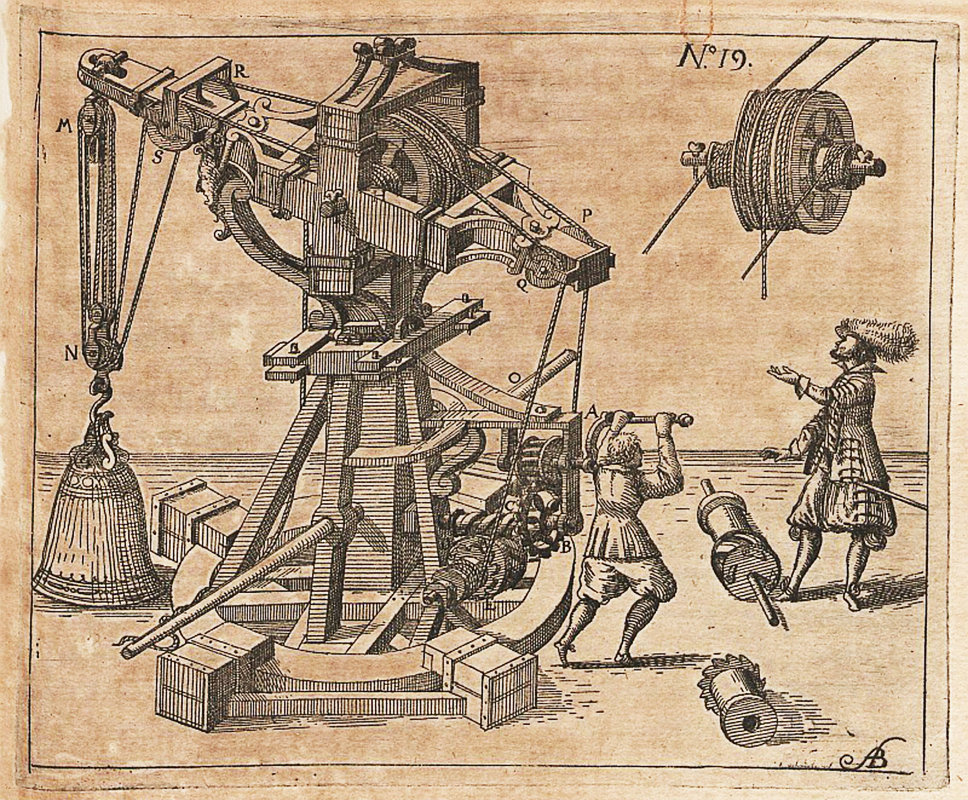 The world is reduced to physical components in mechanical philosophy. Illustration: Hieronymus Megiser, 1613