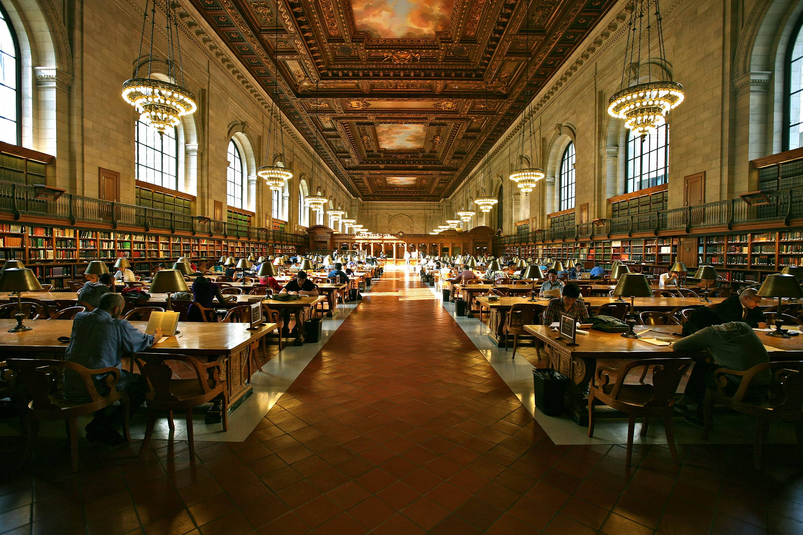 The Rose Main Reading Room at the New York Public Library