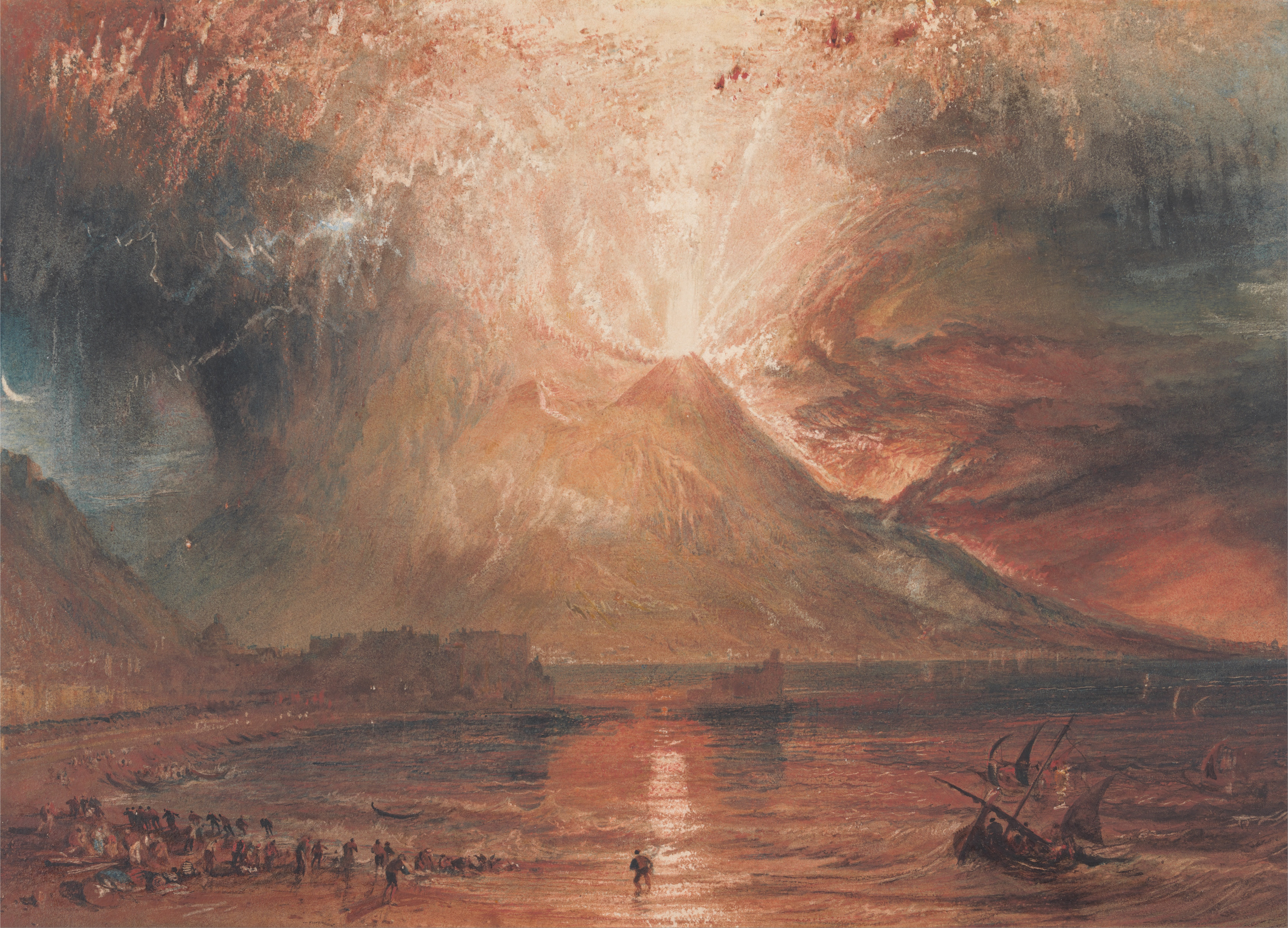 Vesuvius in Eruption, J.M.W. Turner, circa 1817