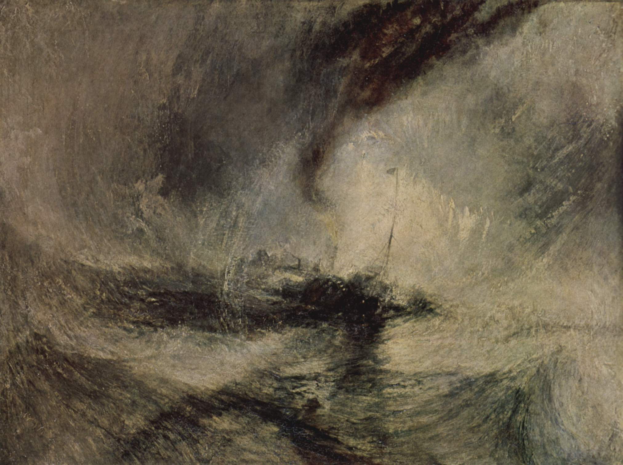 Snow storm—Steamboat off a Harbour's Mouth, J. M. W. Turner