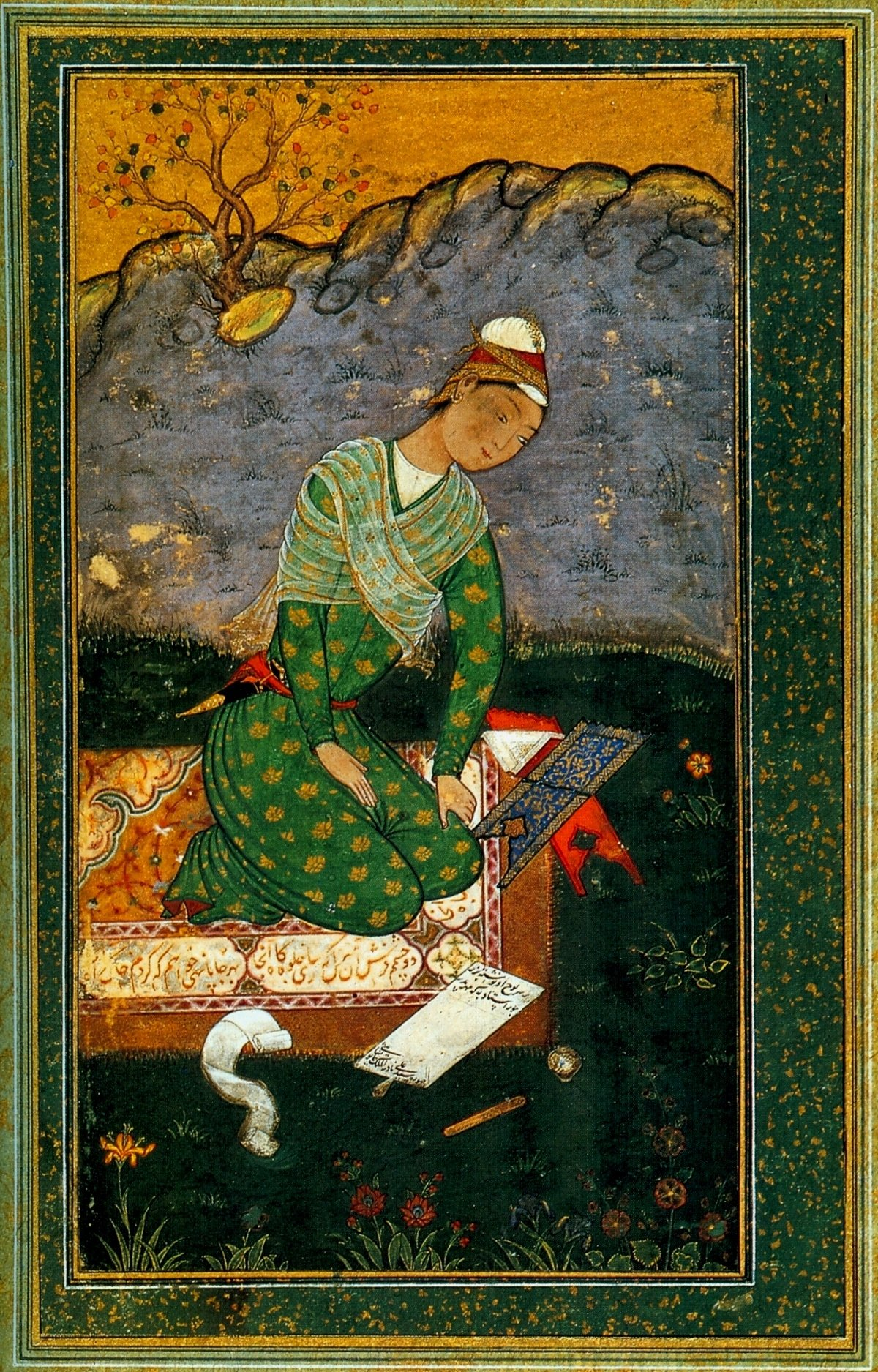 Portrait of a young writer, Mir Sayyid Ali, 1550