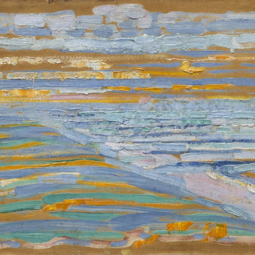 Piet Mondrian 1909 View From The Dunes With Beach And Piers Domburg Mo Ma