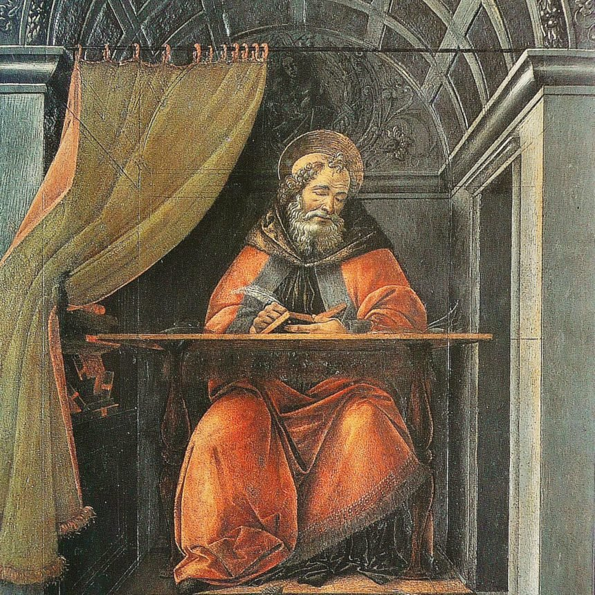 Saint Augustine in His Study, Sandro Botticelli, 1494