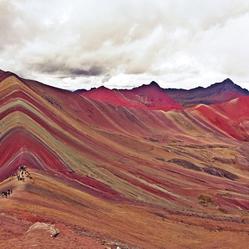 View of Vinicunca Rainbow Mountain, Peru