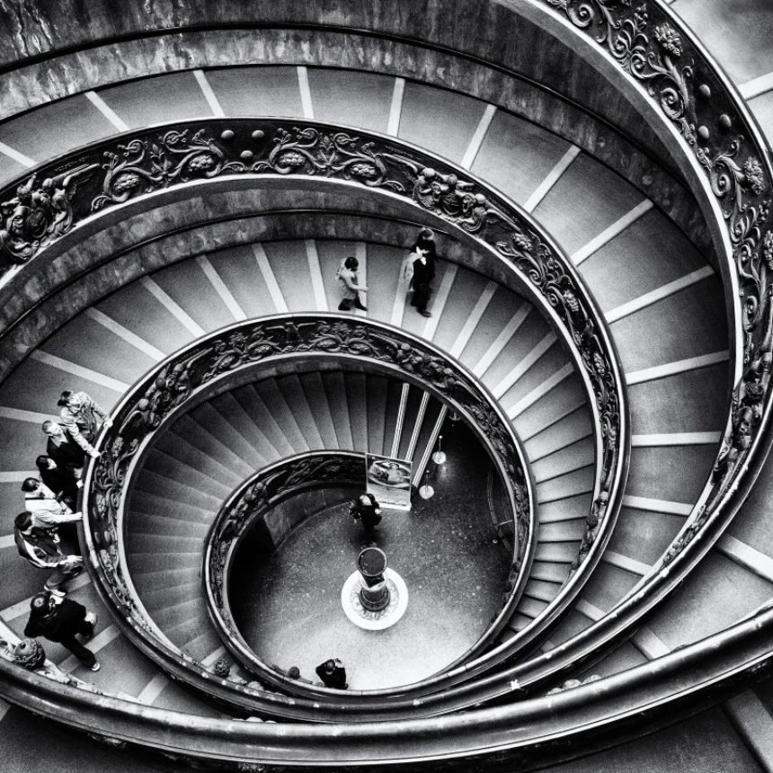 Vatican Staircase Graphics Rome Stairway Stairs Geometry Black And White 663517 Jpgd