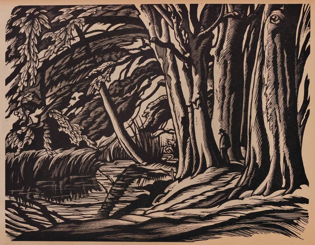 """The New Woodcut,"" Malcolm Salaman, c. 1930"