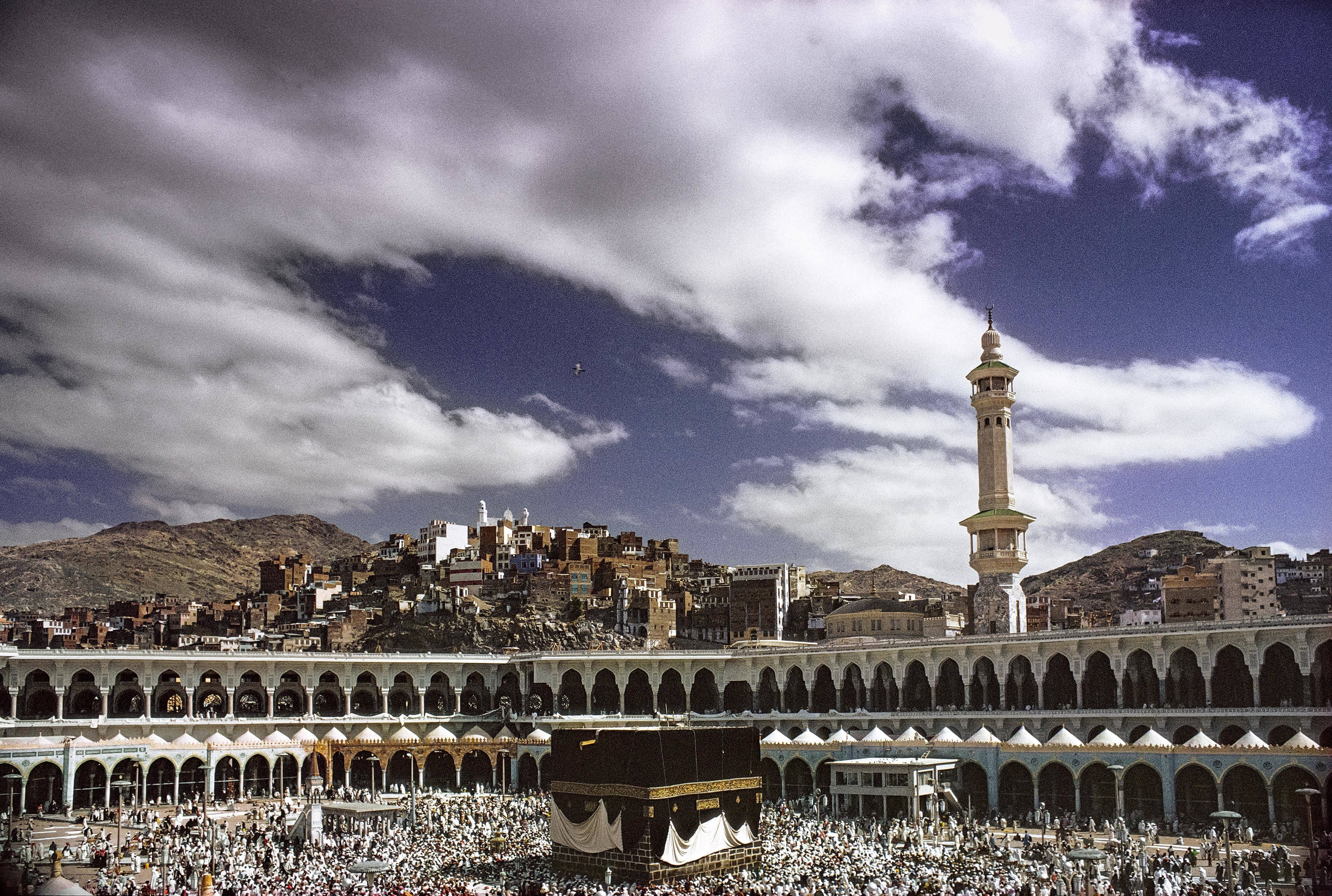 A view of the Kaaba captured in 1971: Peter Sanders Photography